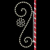 8' Classic Scroll with SnowFlake, LED