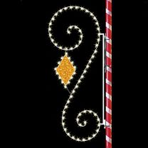 8' Classic Scroll with Diamond, LED