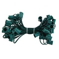 """C9 Cord, 15"""" Spacing, Green Wire, SPT-1, 50'"""