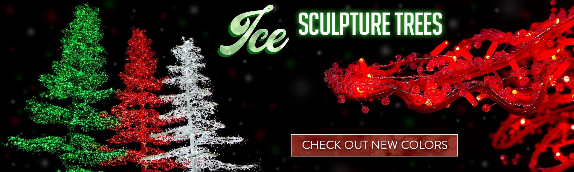 Ice Sculpture Trees in New Colors! Check them out!